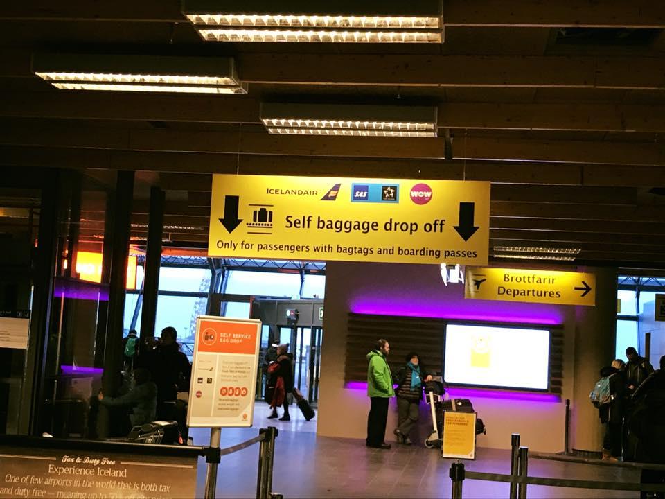 Reykjavik iceland Airport Bag Drop