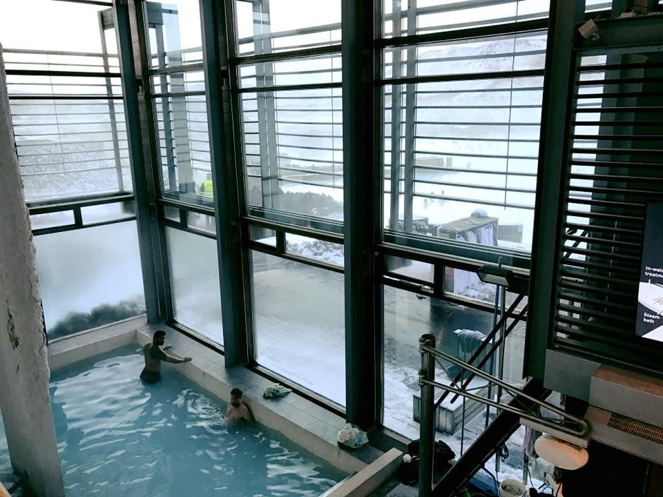 Blue Lagoon Iceland inside entrance to pool